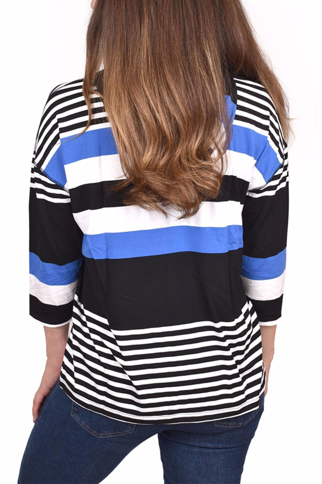 Ethyl Soft Striped Hoodie - Front Full Image