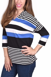 Ethyl Soft Striped Hoodie - Product Mini Image