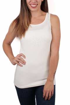 Shoptiques Product: White Tank with Bling
