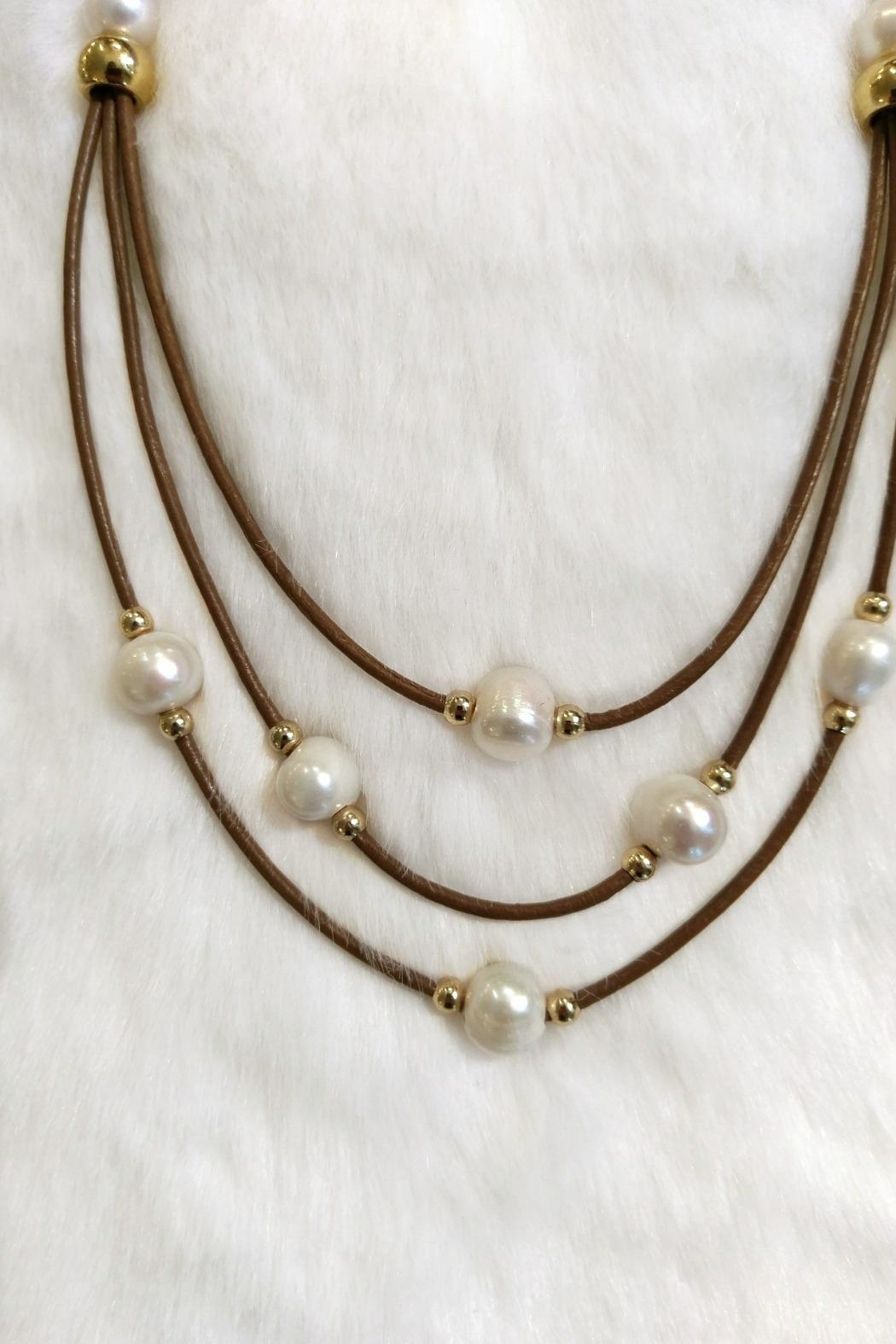 Etnia Lucky Pearls Necklace - Front Full Image