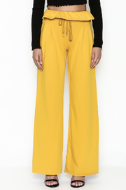 etophe Ruffle Waist Knit Pants - Front full body