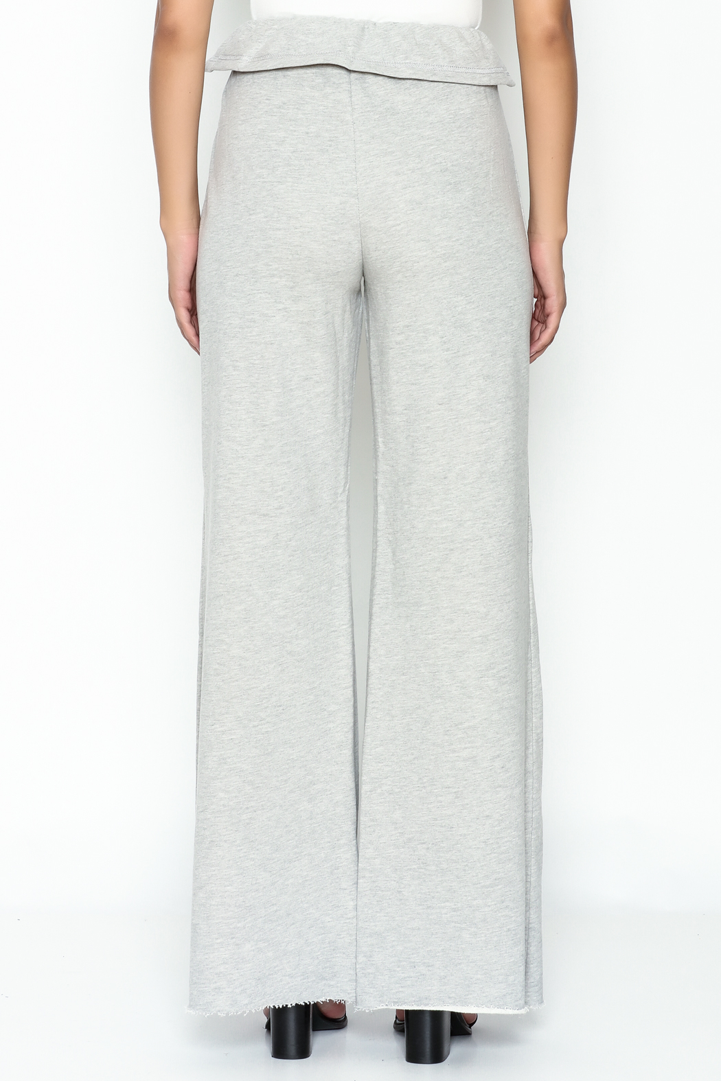 etophe Ruffle Waist Knit Pants - Back Cropped Image