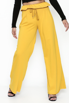 Shoptiques Product: Ruffle Waist Knit Pants