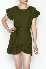 etophe Olive Woven Dress - Product Mini Image