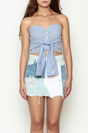 etophe studios Striped Tie Top - Front full body