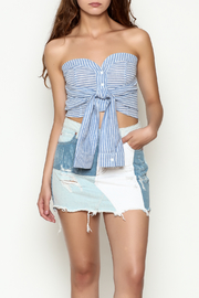etophe studios Striped Tie Top - Front cropped