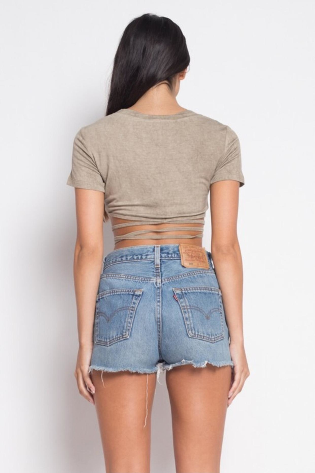 etophe Wrap Crop Top - Front Full Image