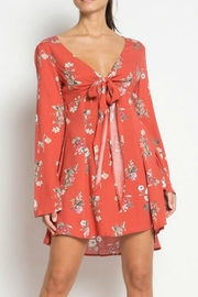 etophe studios Rust Floral Dress - Front cropped