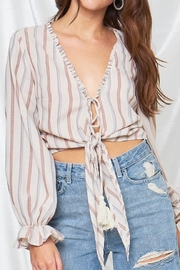 etophe studios Tie-Front Stripe Top - Product Mini Image