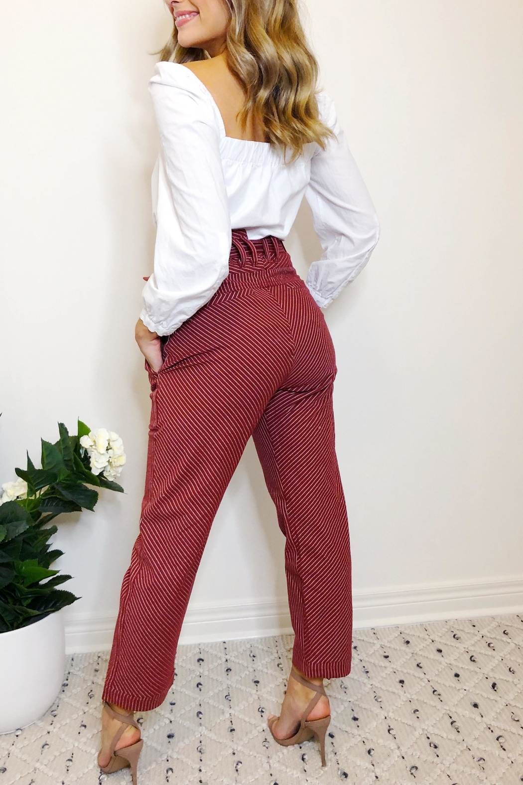 etophe studios Willow Trouser - Back Cropped Image