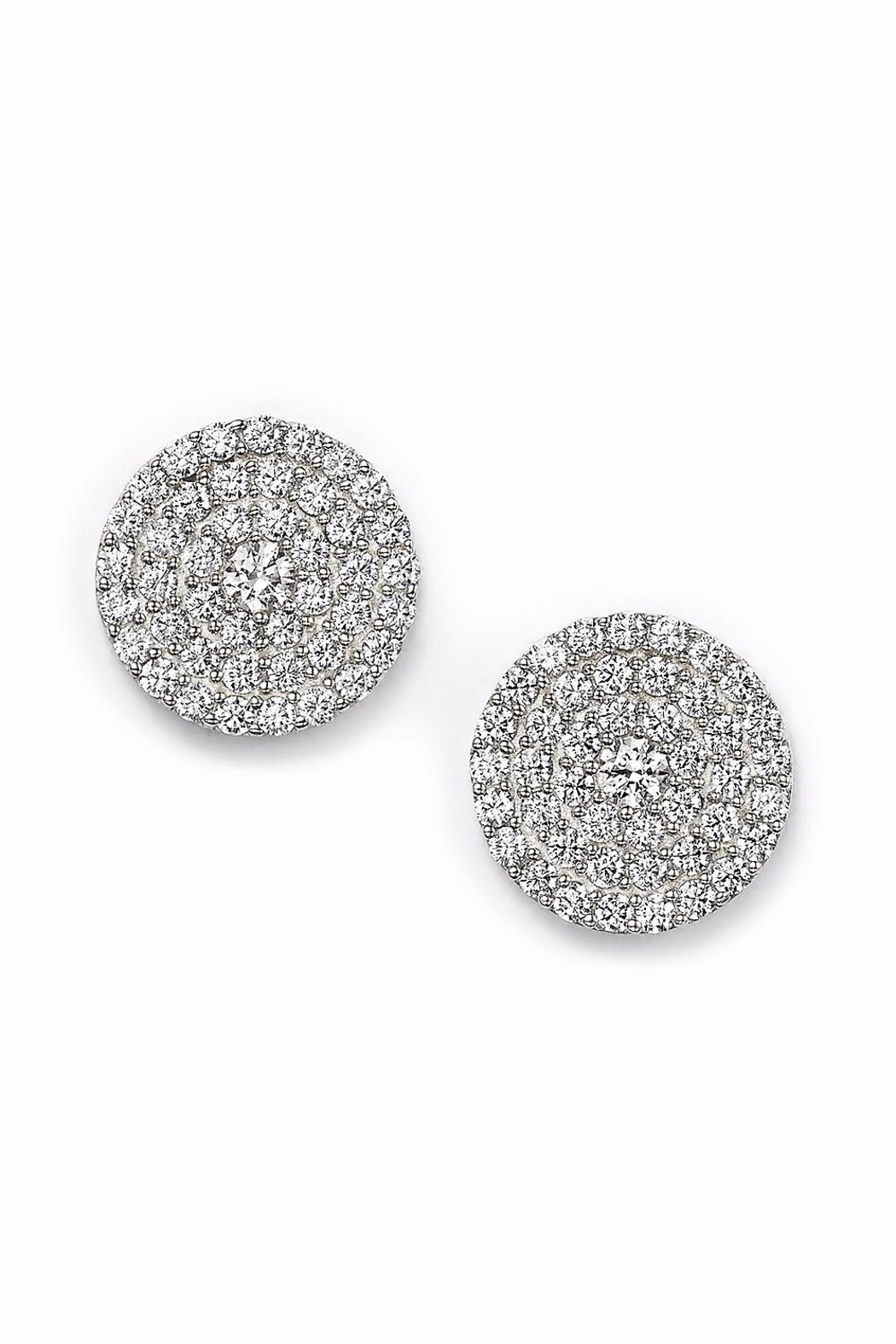 Ettika Pave Stud Earrings - Front Cropped Image