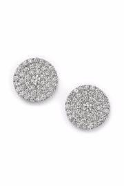 Ettika Pave Stud Earrings - Front cropped