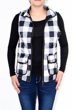Shoptiques Product: Quilted Plaid Vest