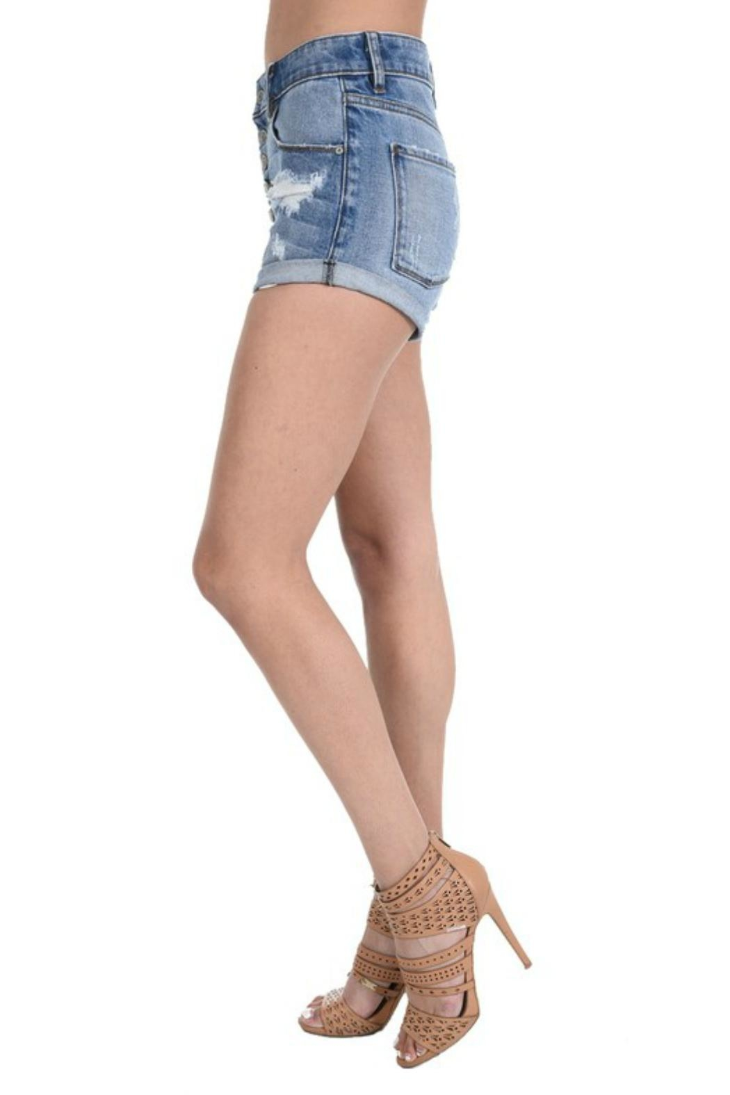 fd0d280220ff6 Eunina Button Fly Shorts from Texas by POE and Arrows — Shoptiques