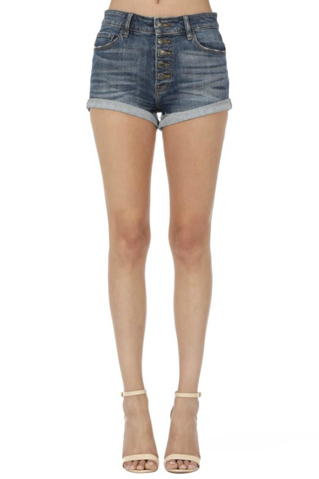 c30b4c707d795 Eunina High-Rise Button-Fly Shorts from Texas by POE and Arrows ...