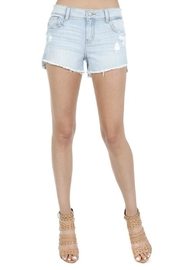 Eunina Lightwash Distressed Shorts - Product Mini Image