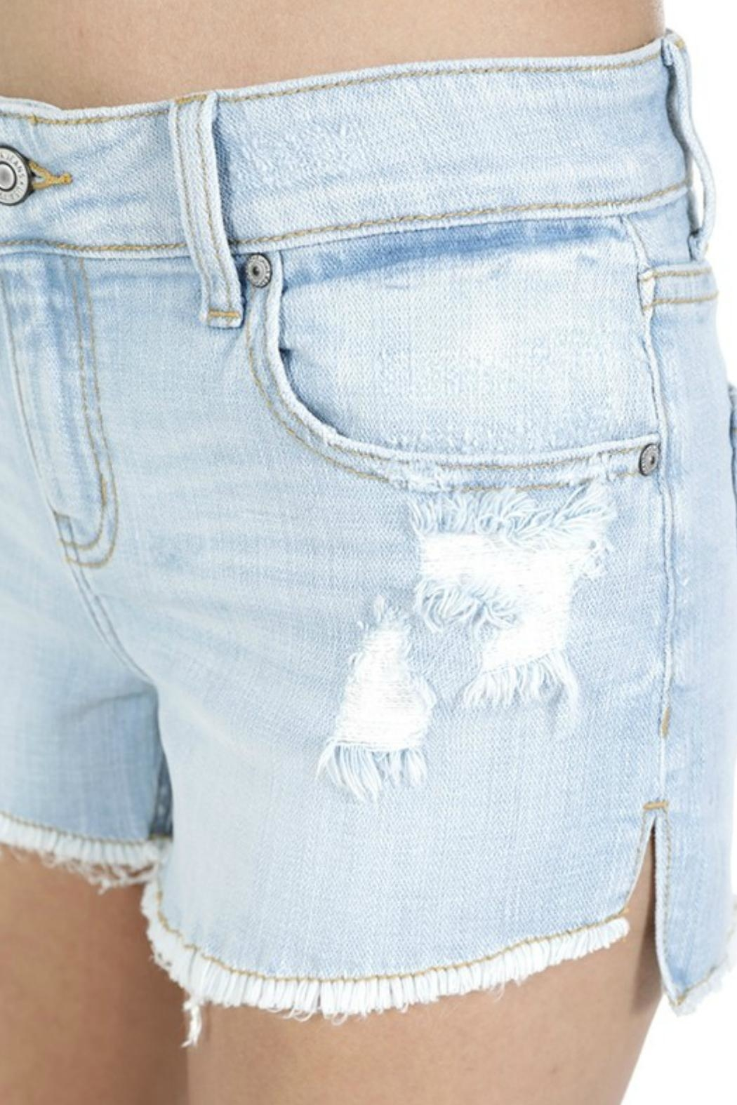 9e69bd3004e6b Eunina Lightwash Distressed Shorts from Texas by POE and Arrows ...