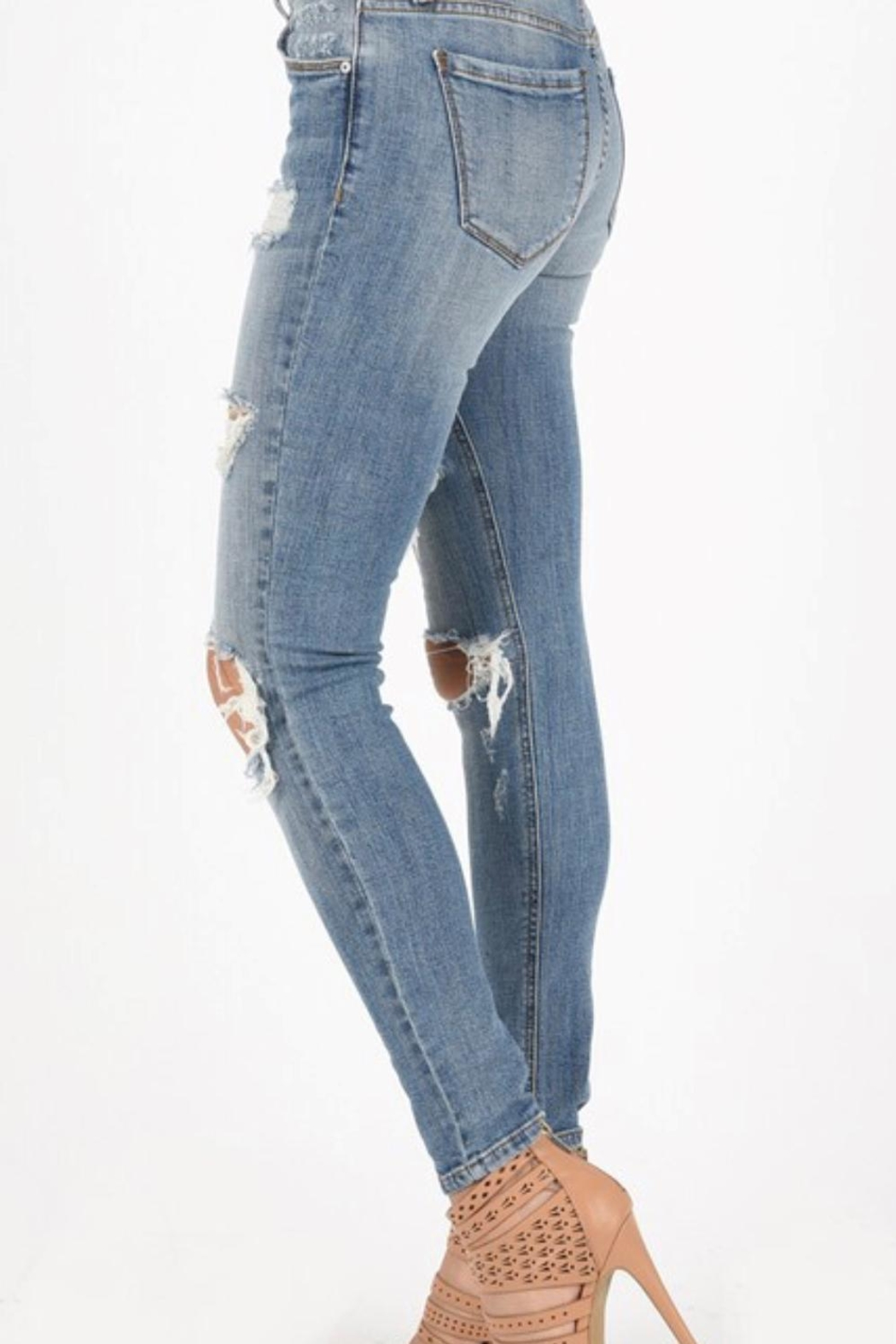 Eunina Low Rise Skinny - Side Cropped Image