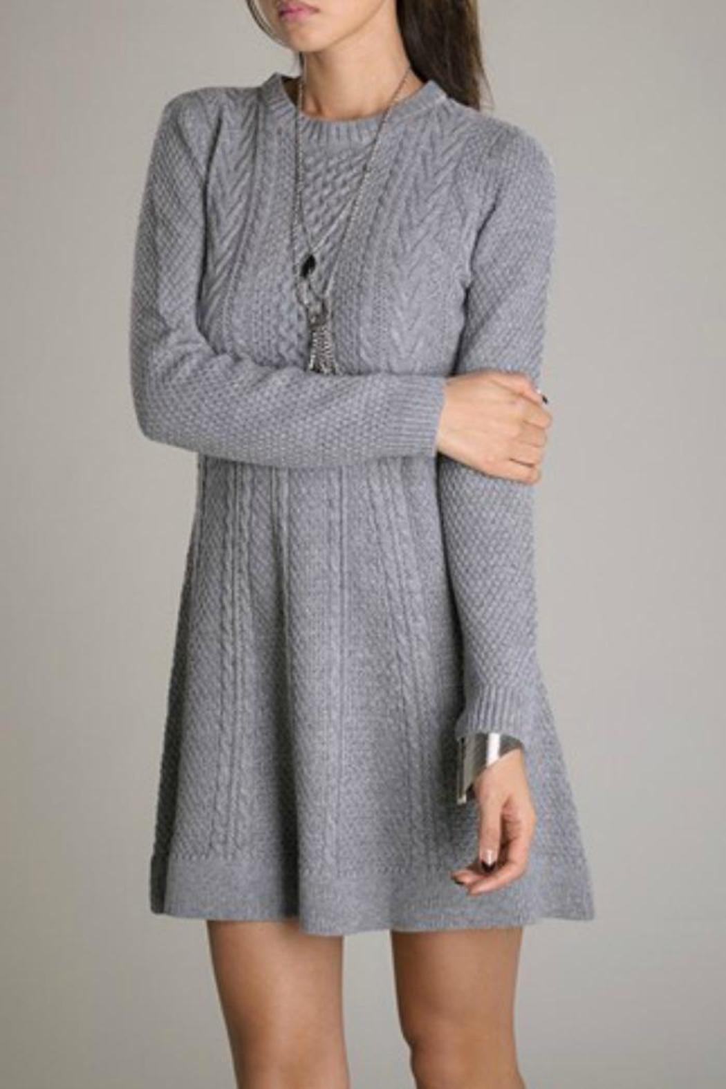 Eunishop Gray Sweater Dress - Main Image