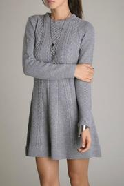 Eunishop Gray Sweater Dress - Side cropped