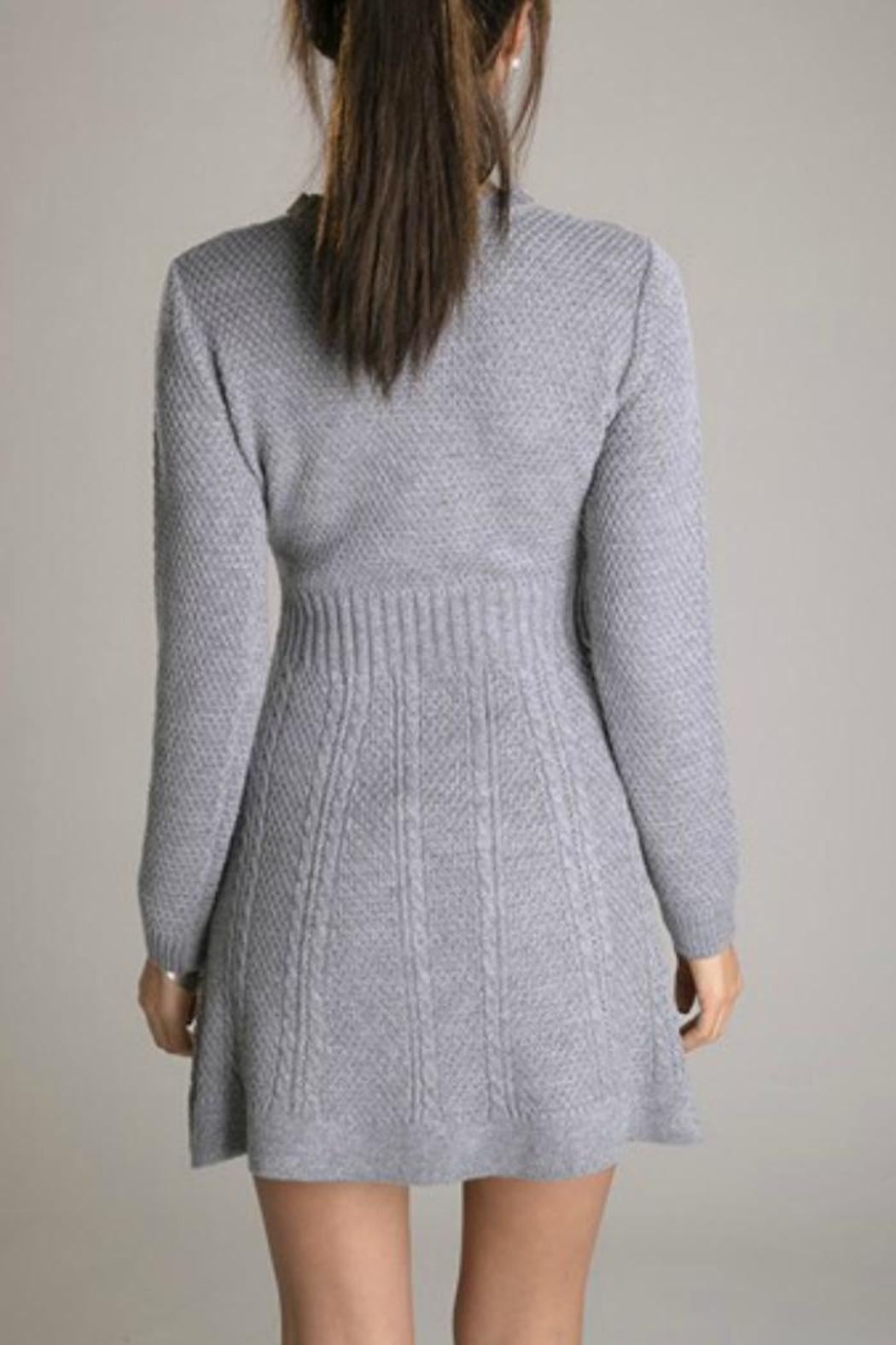 Eunishop Gray Sweater Dress - Front Full Image