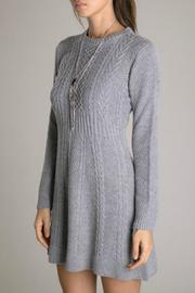 Eunishop Gray Sweater Dress - Back cropped
