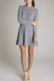 Eunishop Gray Sweater Dress - Front cropped