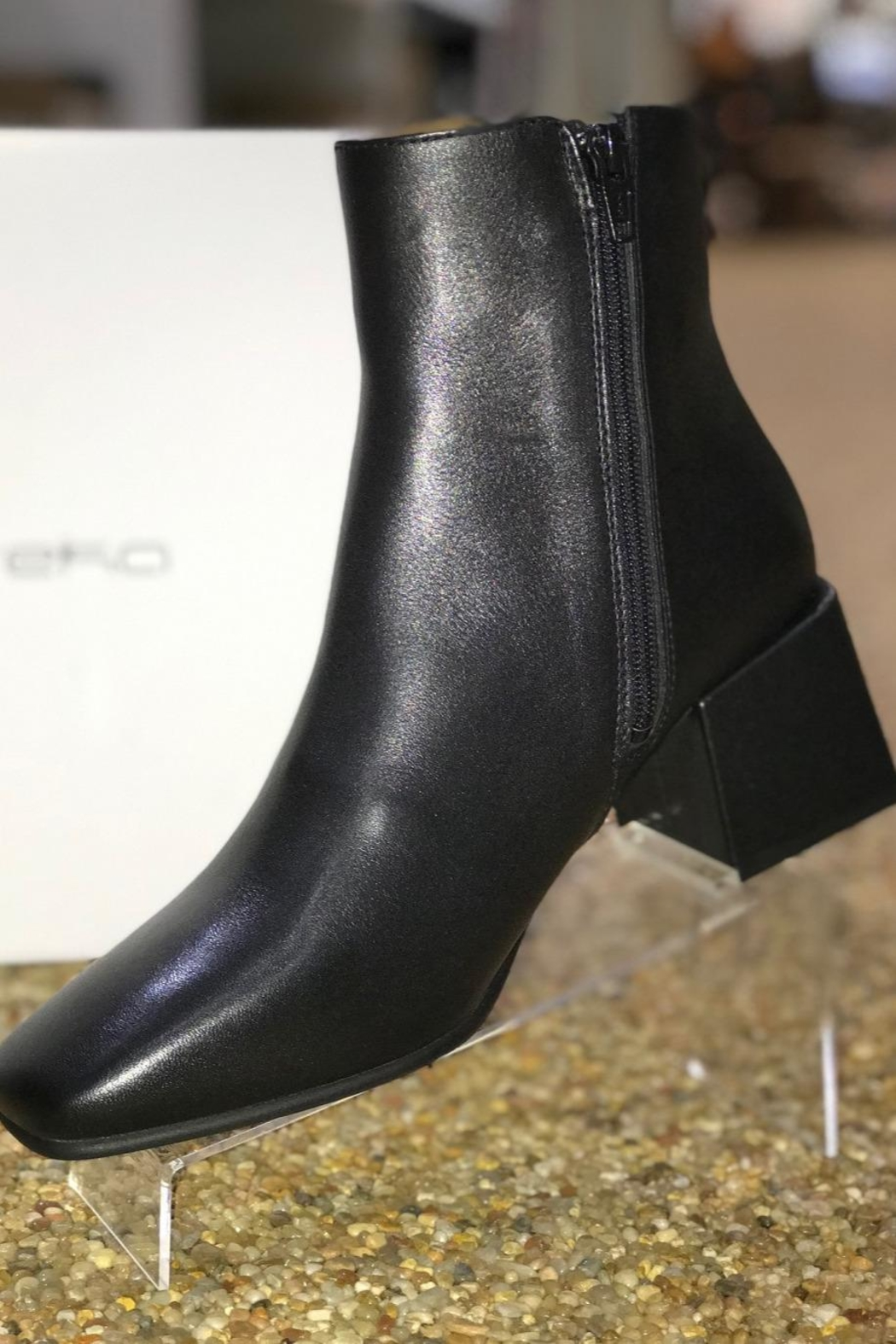Eureka Leather Block Heel Boot - Side Cropped Image
