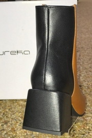 Eureka Leather Block Heel Boot - Front full body