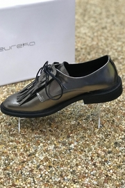 Eureka Mirror Finish Oxford Flat Shoes - Front full body
