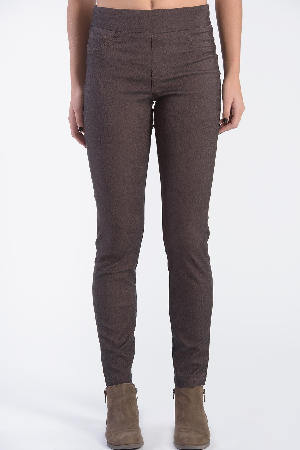 Euro Brown Pants - Front Cropped Image