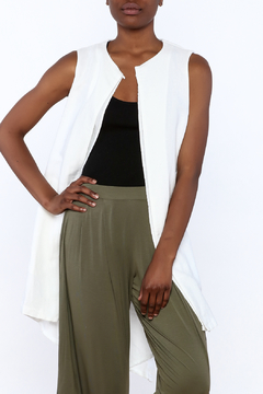 European Culture Sumptuous White Vest - Product List Image