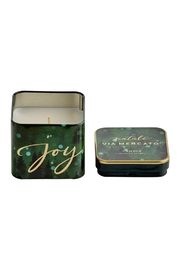European Soaps, LLC Holiday Candle Tin - Front cropped