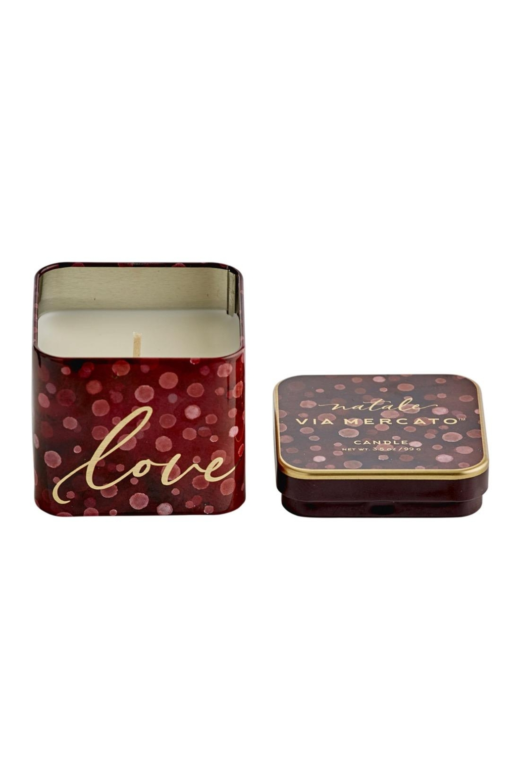 European Soaps, LLC Holiday Candle Tin - Front Cropped Image
