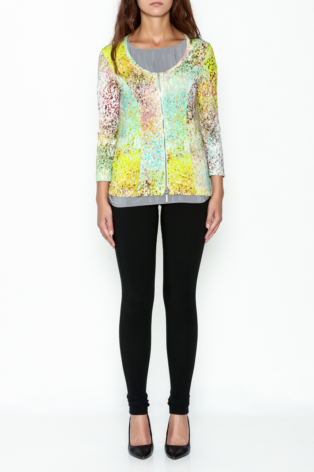 Eva & Claudi Monet Zip Top - Front Full Image