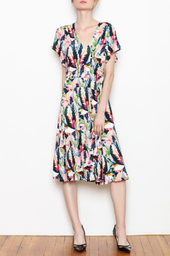 Shoptiques Product: Printed Winged Sleeve Dress