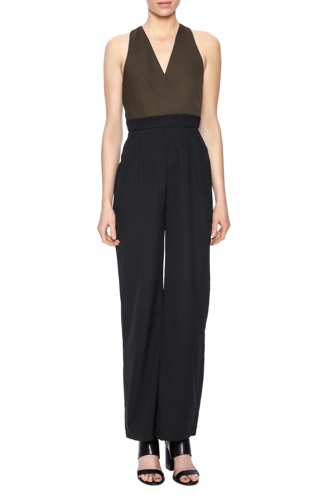 Eva & Lola Color Blocked Jumpsuit - Front Cropped Image