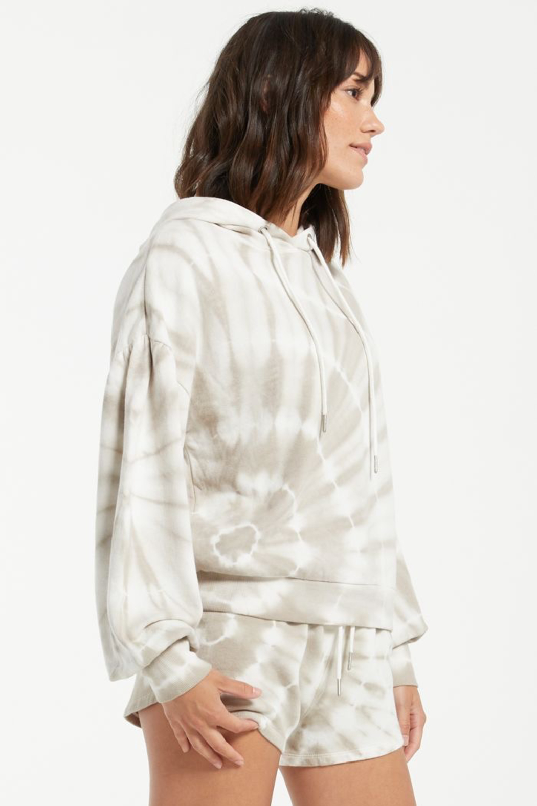 z supply Eva Spiral Tie-Dye Hoodie - Back Cropped Image