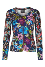 Eva & Claudi Patchwork Zip Top - Product Mini Image