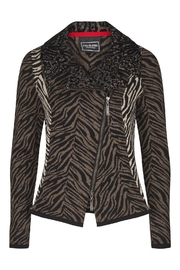 Eva & Claudi Zebra Biker Knit - Product Mini Image