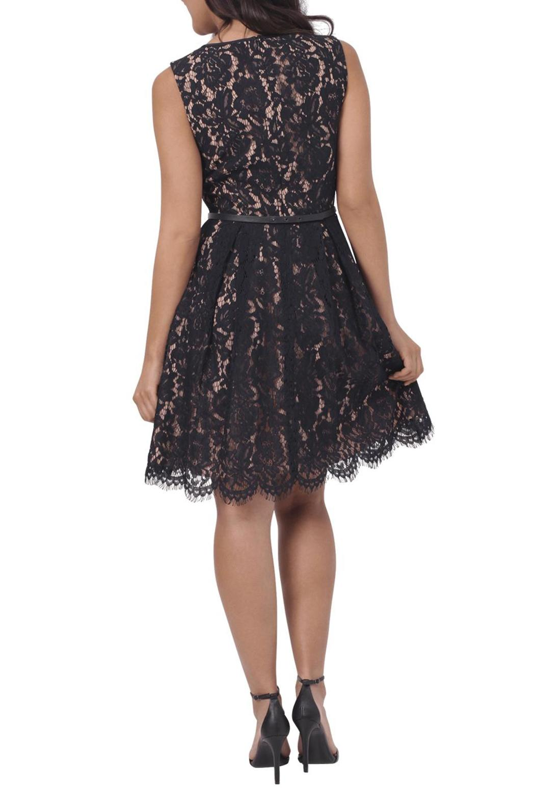 longoria lace belt dress from los angeles by tags