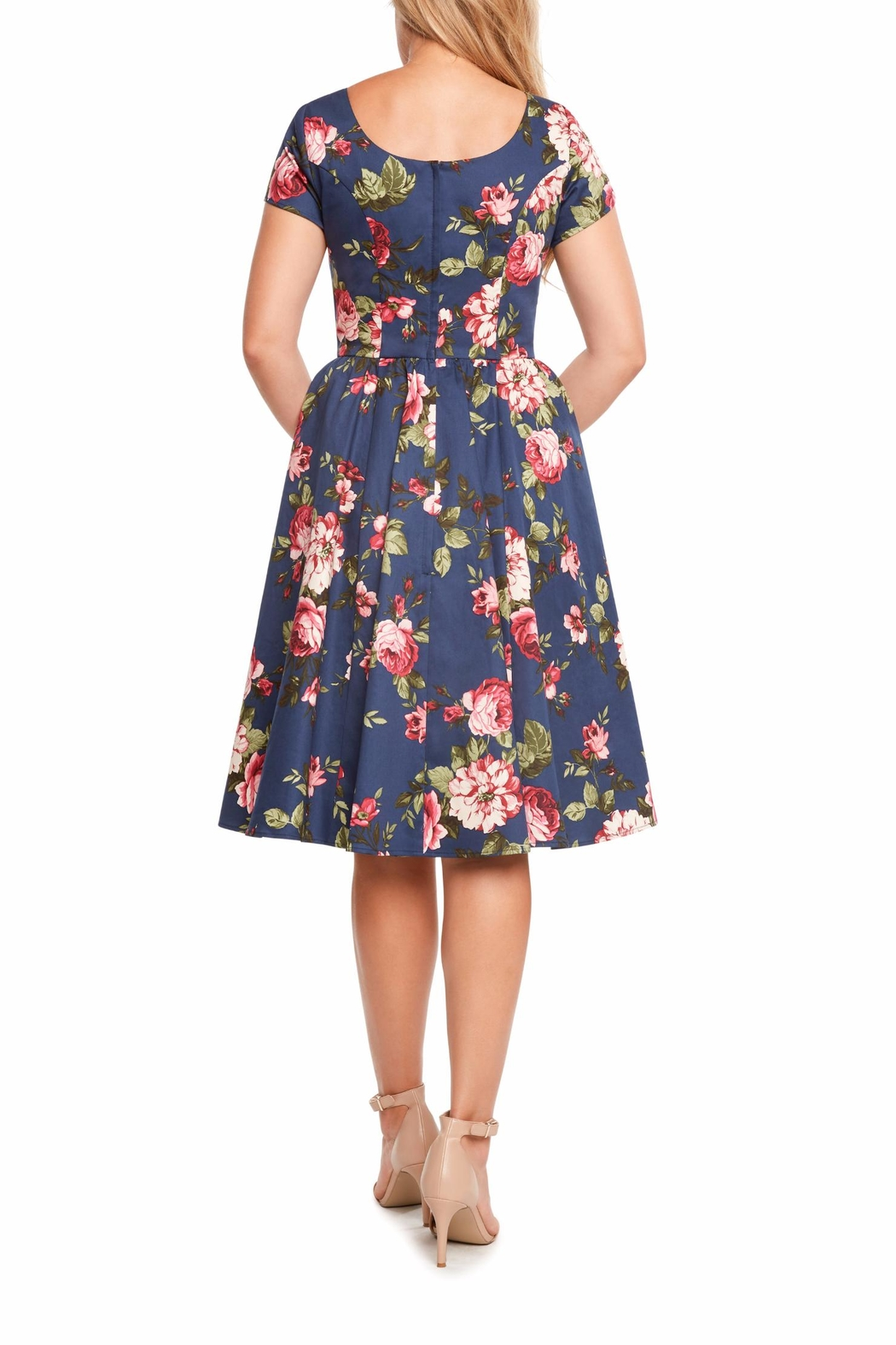 Eva Rose Classic Floral Dress - Front Full Image