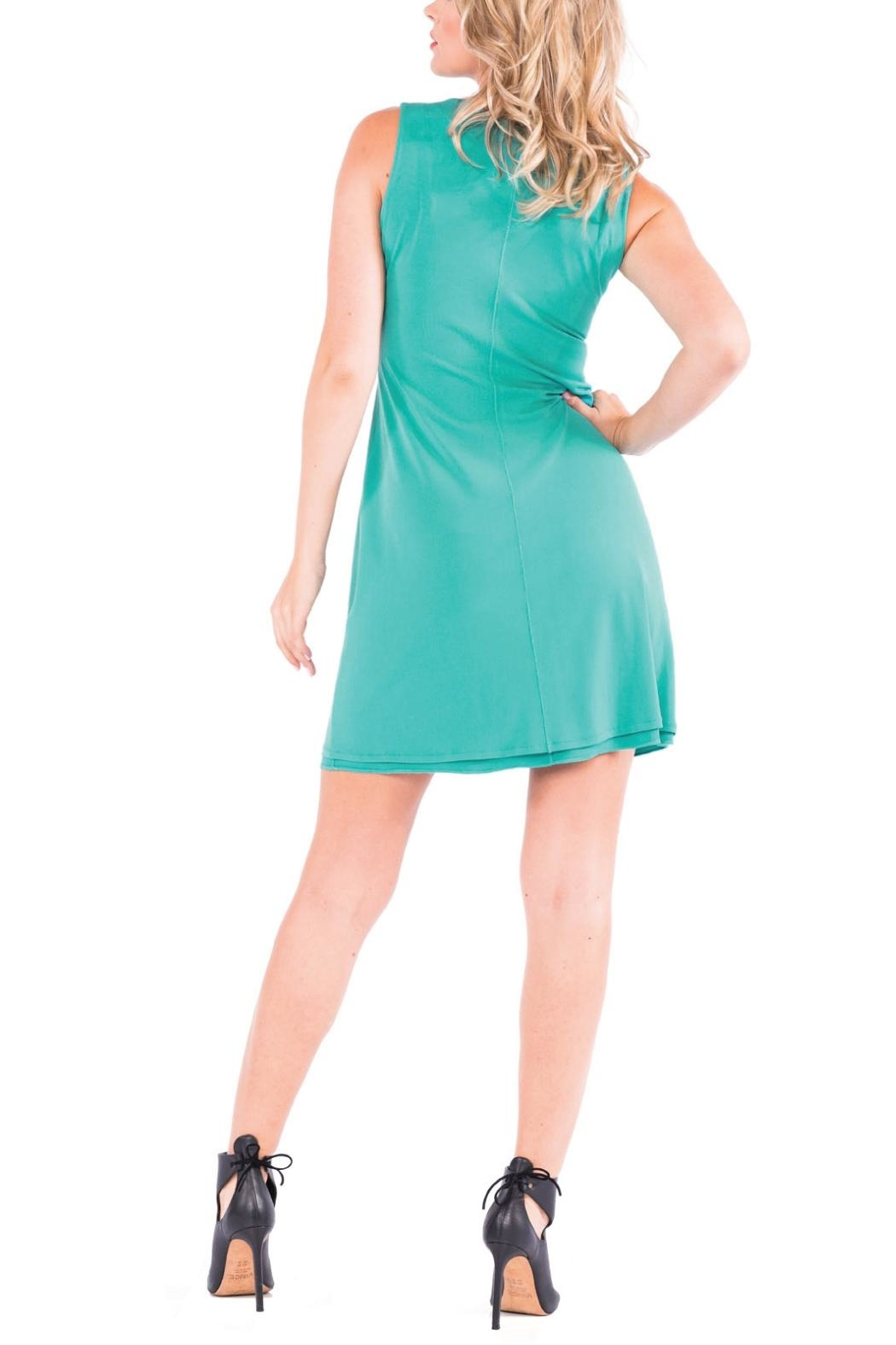 Eva Varro Bateau Mini Dress - Side Cropped Image