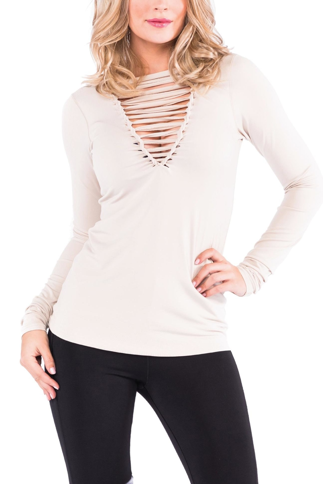 Eva Varro Braided Front Top - Side Cropped Image