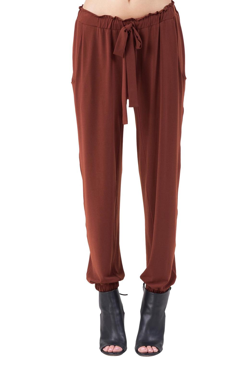 Eva Varro Pocket Tie Front Jogger - Front Cropped Image