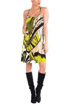 Shoptiques Product: Lime Abstract Sleeveless Dress