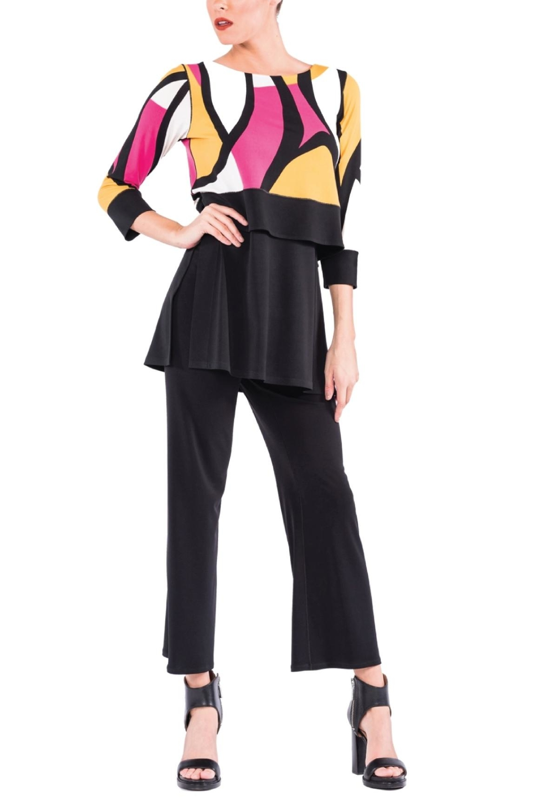 Eva Varro Fun Colorful Tunic Top - Front Cropped Image
