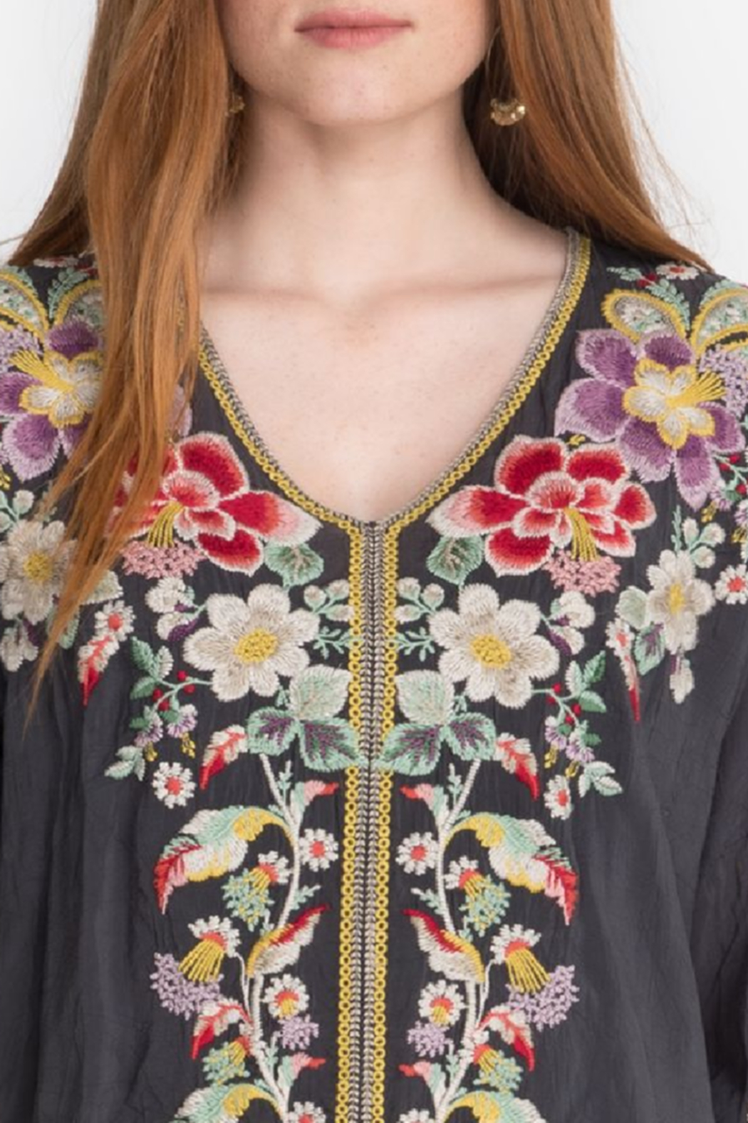 Johnny Was Evangeline Embroidered Top - Side Cropped Image