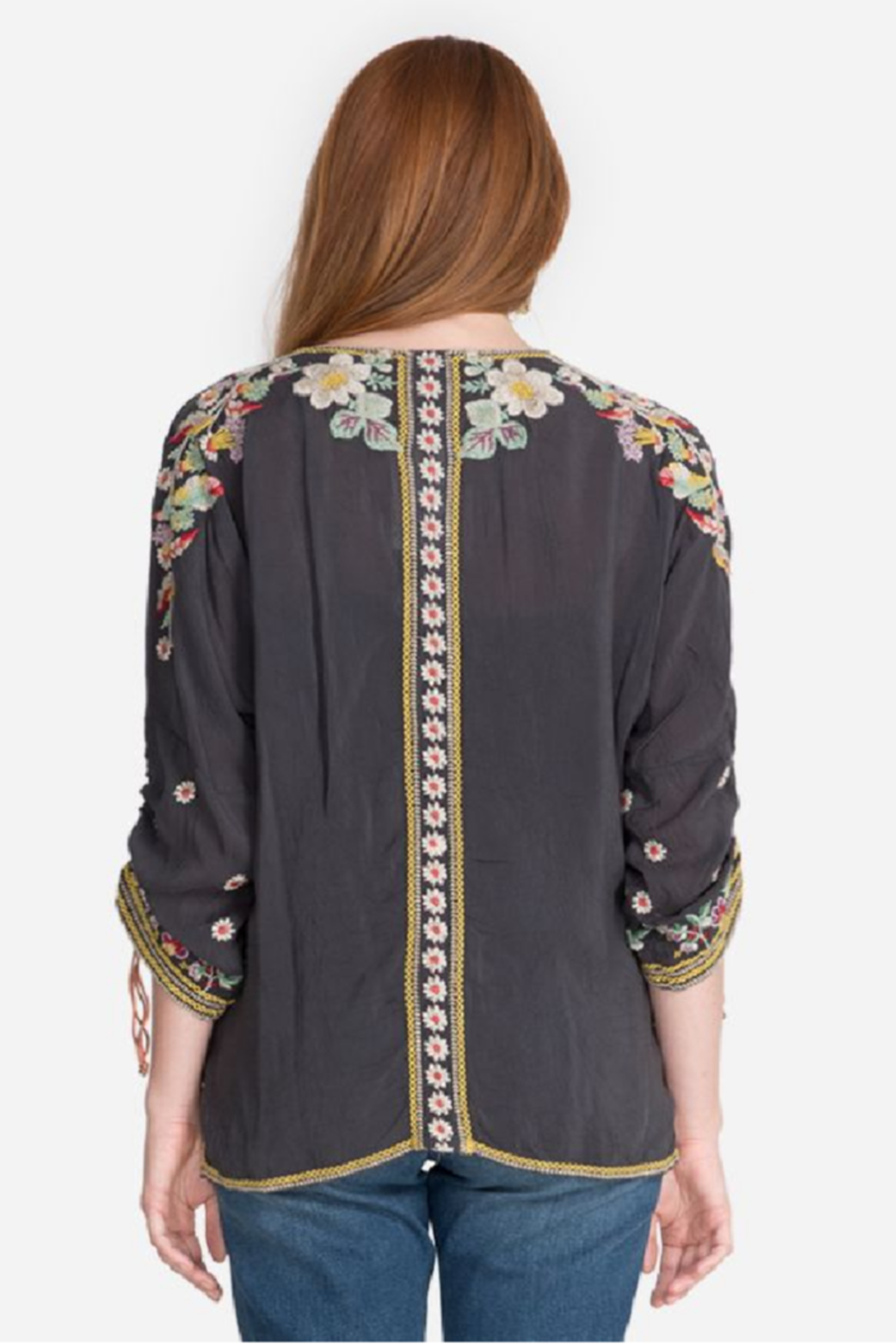 Johnny Was Evangeline Embroidered Top - Front Full Image