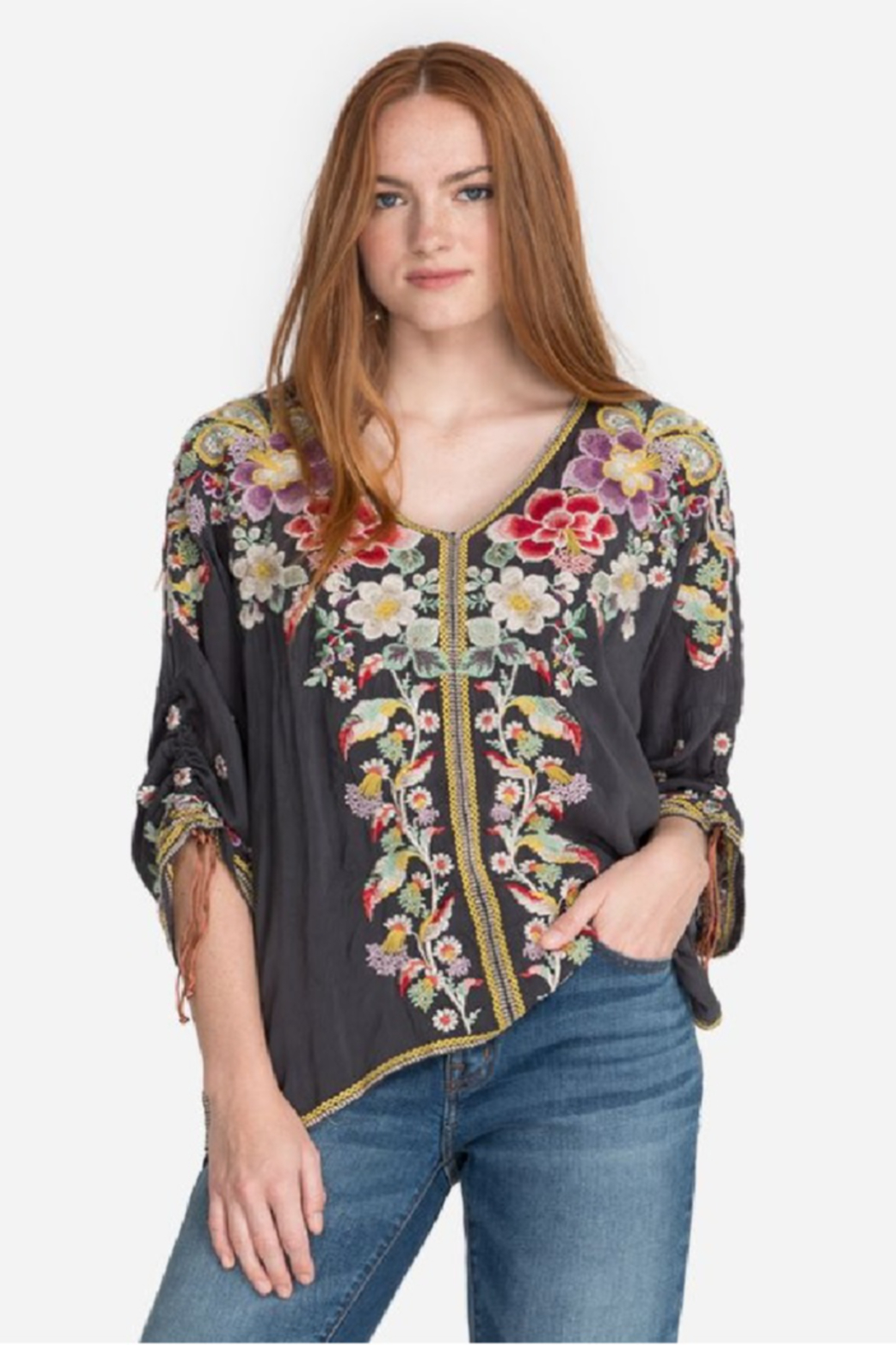 Johnny Was Evangeline Embroidered Top - Main Image